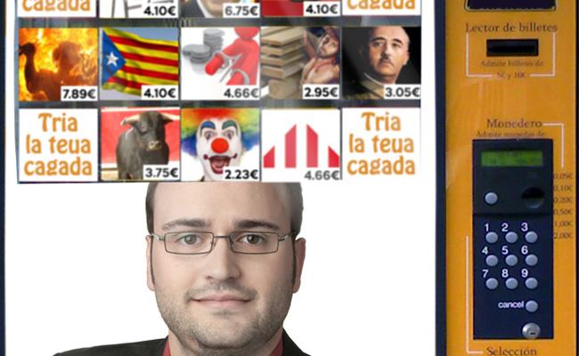 Compromís-ERPV presenta una màquina on els ciutadans poden comprar els errors de Josep Barberà
