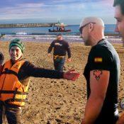 Immigrants Siris arriben al Morrongo, platja del municipi de Benicarló